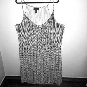 Lane Bryant Black & White Striped Dress size 26/28